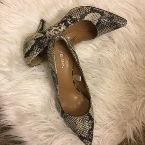 Merona snake print heels